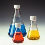 Nalgene®  Sterile Disposable Erlenmeyer Flasks, Baffled Bottom