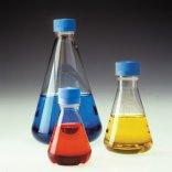 Nalgene®  Sterile Disposable Erlenmeyer Flasks with Baffled Bottom and PTFE Membrane